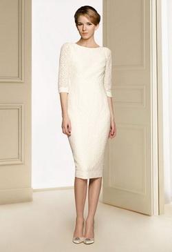 Vestidos de novia elegantes y sencillos cortos