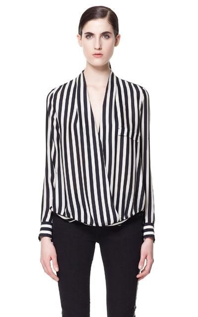 Resultado de imagen para outfit blusa rayas verticales