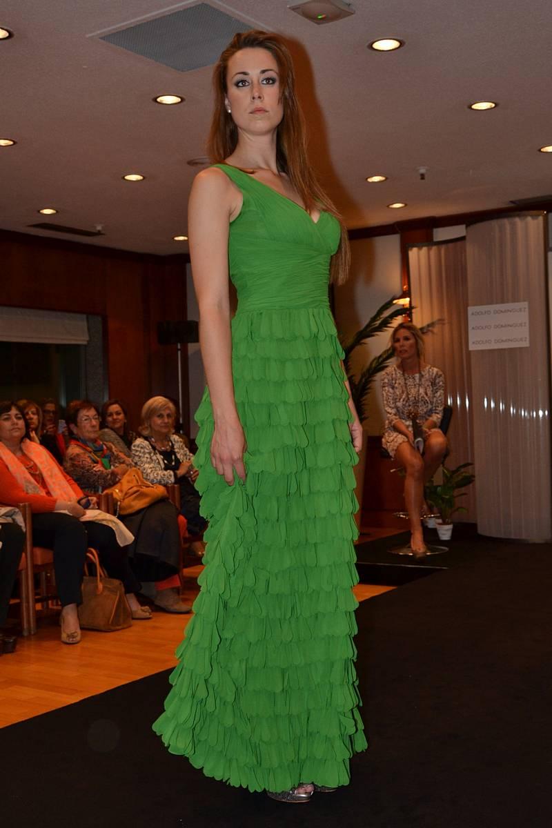 Vestido verde adolfo dominguez el corte ingles