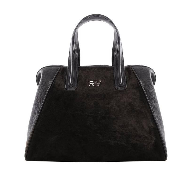 Bolso shopping mar negro marrón de Roberto Verino