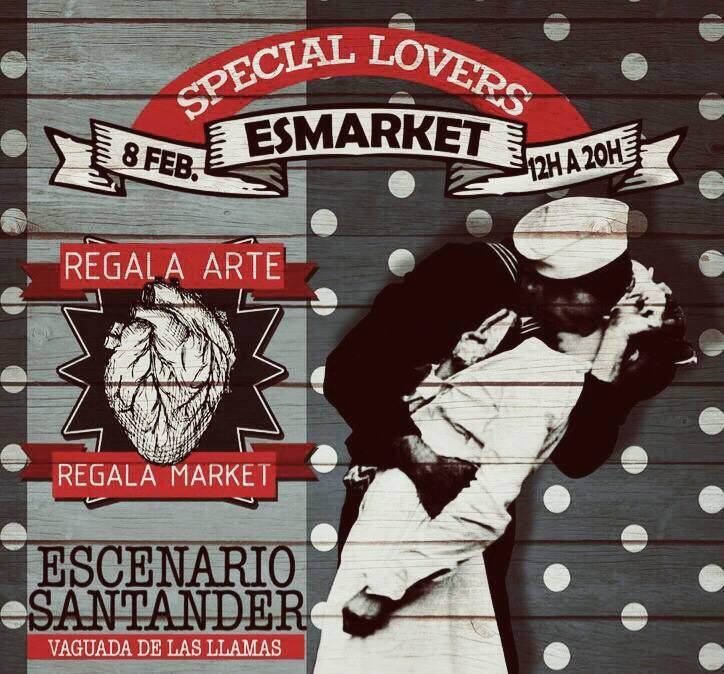 Cartel del Escenario Market de Santander del 8 de febrero de 2015