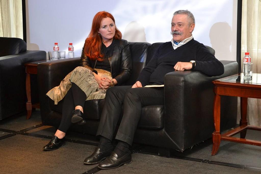 Pedro Mansilla y NAgore Garamendi en el Encuentro La moda es más que moda 02