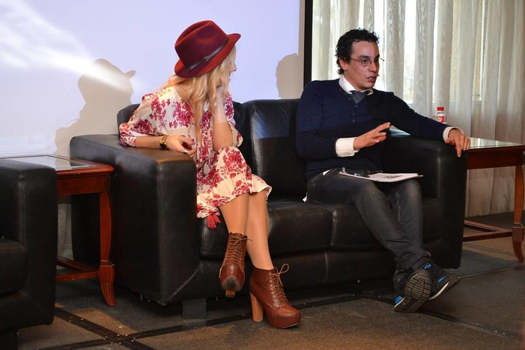 Berta Oporto y Carlos Silveira en el Encuentro La moda es más que moda