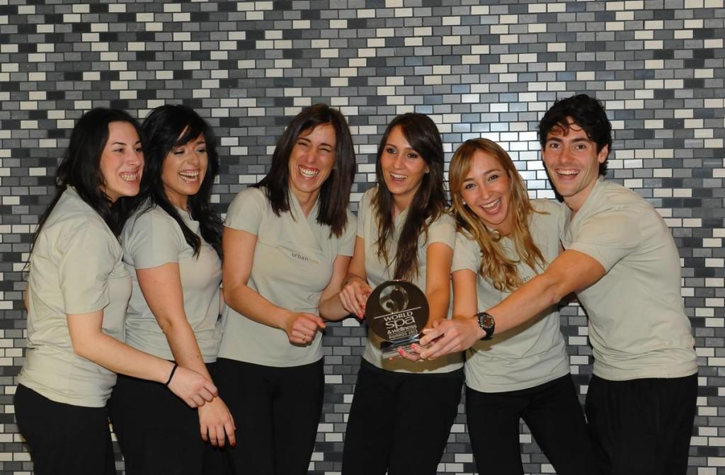 Eqipo de Marismas con el Premio World Spa 2013