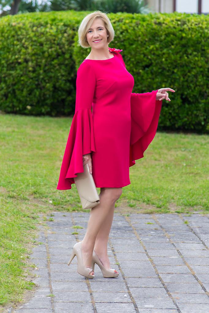 Vestido Rosa de Punto y Aparte 02