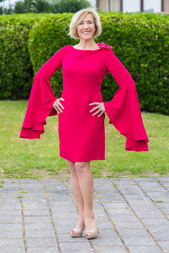 Vestido Rosa de Punto y Aparte 0