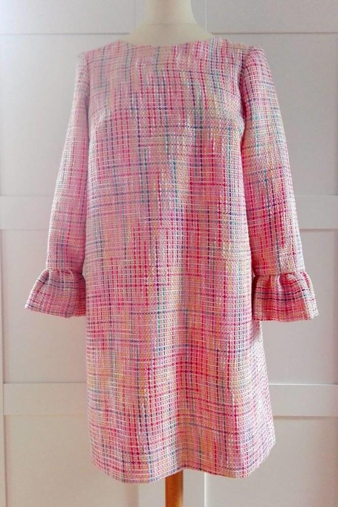 Vestido de tweed rosa EPD 01