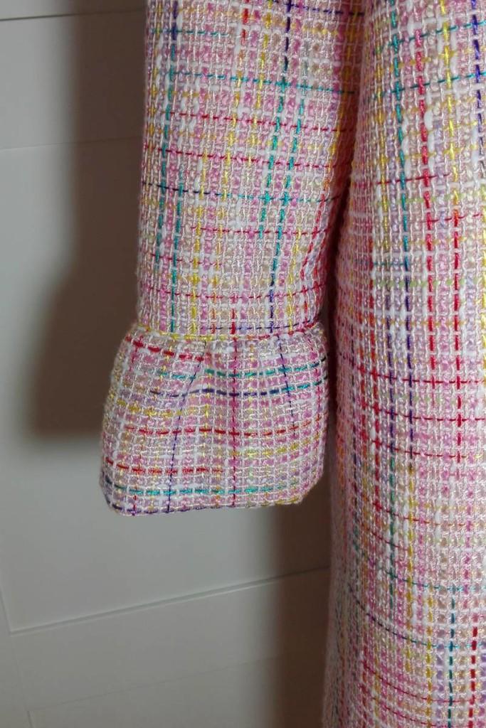 Vestido de tweed rosa EPD manga
