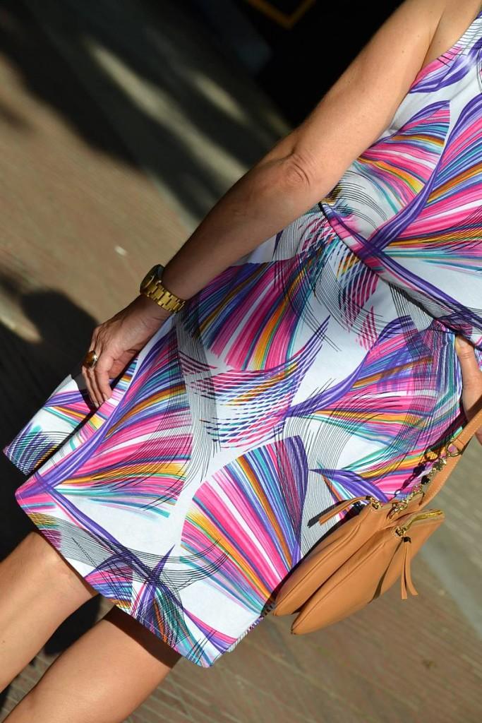 Vestido corto estampado de Danire 03