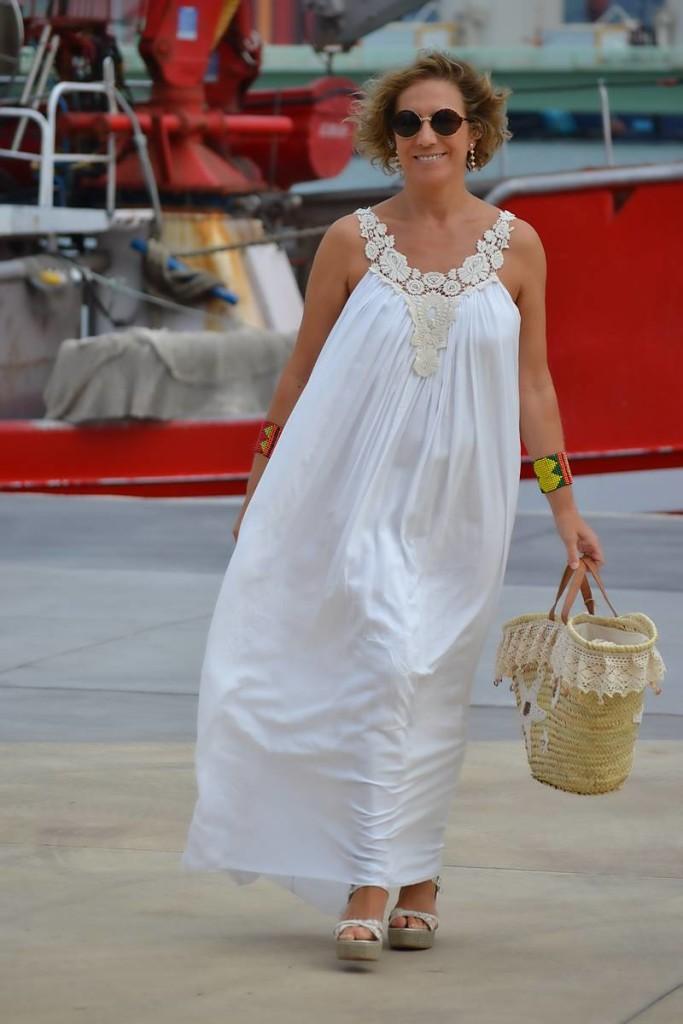 Vestido Blanco Largo 05