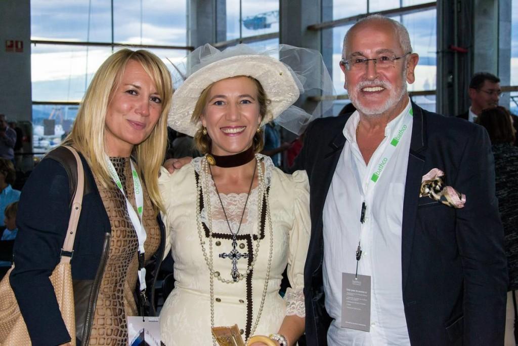 EDP con Jesés Ferreiro, Presidente de la Fundación Titanic y Begoaña Gran Presidenta de la Fundación Enrique Gran