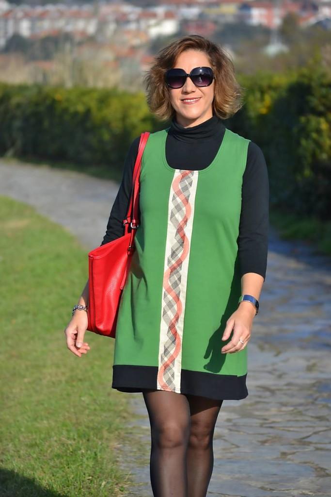 Gema Nájera,, vestido verde