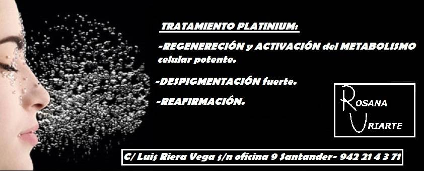 Tratamiento Platinum en Rosana Uriarte Estética