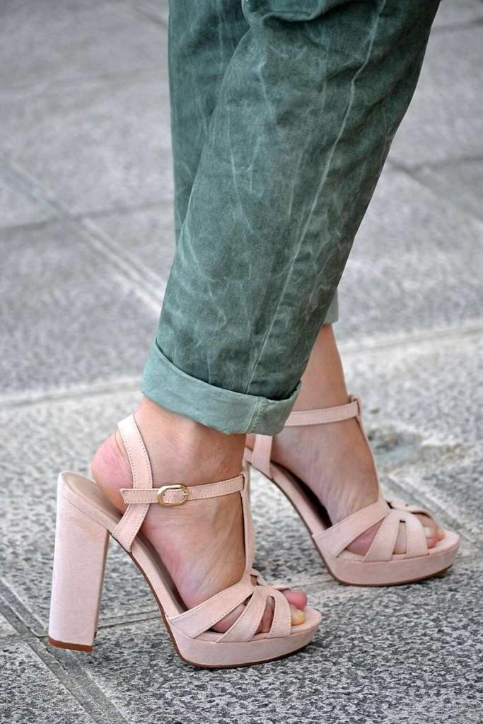 Punto y Aparte. Verde kaki y rosa palo 06
